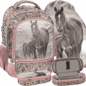Plecak Dziewczęcy Nowoczesny w Konie z Końmi Paso [PP20KO-260]