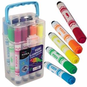 Pisaki ze Stempelkami Kidea 12 Kolorów w Etui [PSP12KA]