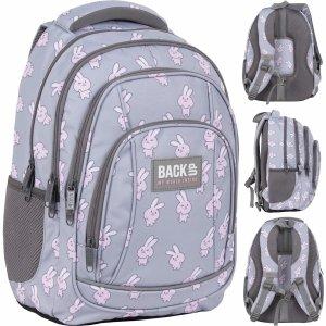 BackUP Plecak Szkolny Młodzieżowy Króliczki 26l dla Dziewczyny [PLB4A01]