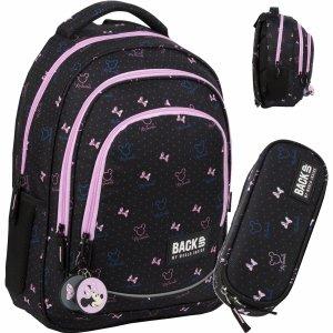 Plecak Minnie Myszka BackUP Szkolny Młodzieżowy Ciemny [PLB3XMM67]
