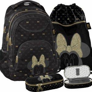 Modny Plecak Myszka Mini Minnie dla Nastolatki Czarny BeUniq [DISG-2708]