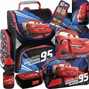 Dziecięcy Szkolny Tornister dla Chłopaka Auta Cars Zestaw 6w1 [DSD-525]