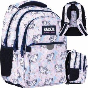 Modny Szkolny Plecak Pegaz Backup dla Dziewczyny Derform [PLB4P25]