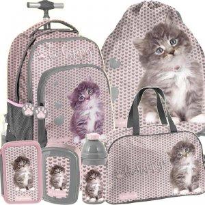 Plecak na Kółkach Szkolny Kot Kotek dla Dziewczyny [RLD-887]