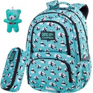 CP CoolPack Plecak z Pandami Spiner Szkolny Pandas Patio [C01175]
