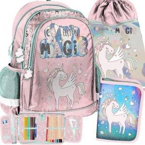 Modny Szkolny Plecak Jednorożec dla Dziewczyny [PP19UK-081]