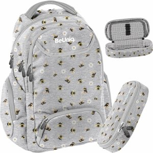 Pszczółki Plecak Kwiatki Młodzieżowy Szkolny Dla Dziewczyny [PPEE20-2908/16]