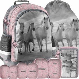 Plecak dla Dziewczynki Szkolny Komplet Konie Paso [PP21HO-116]