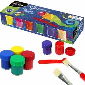 Farby Plakatowe 12 Kolorów 20ml Kidea dla Dzieci [FDPS8KA]