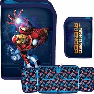 Iron Man Piórnik dla Chłopaka Szkolny Avengers [AIN-001/BW]