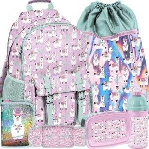 Dziewczęcy Plecak Szkolny z Lamami dla Uczennicy Paso [PP19LA-810]