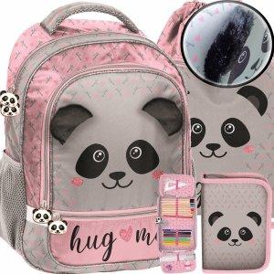 Miś Panda Plecak Szkolny Dziewczęcy Pluszowe Uszy [PP20PA-260]