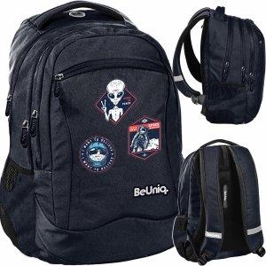 Czarny Plecak dla Chłopaków Ufo Kosmici Szkolny BeUniq [PPUF20-2808]