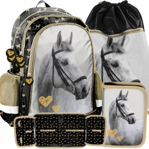Siewek Plecak Dziewczęcy Koń Konie do Szkoły Modny Paso [PP20H-081]