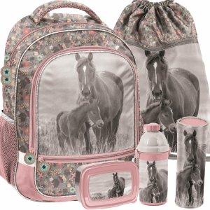 Szkolne Plecaki Dziewczęce Koń Konie Komplet [PP20KO-260]