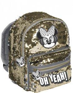 Cekinowy Plecak Myszka Minnie dla Dziewczynki na Wycieczki do Przedszkola [DMMI-355]