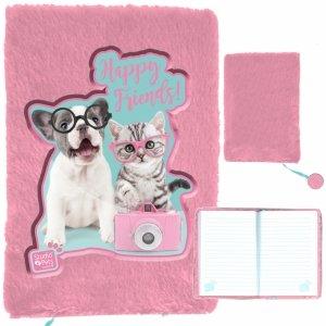 Pamiętnik Pluszowy Kot Pies dla Dziewczynek Paso [PTK-3670]