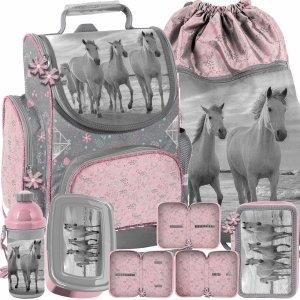 Nowy Tornister dla Dziewczynek Koń do klas 1-3 komplet [PP21HO-525]