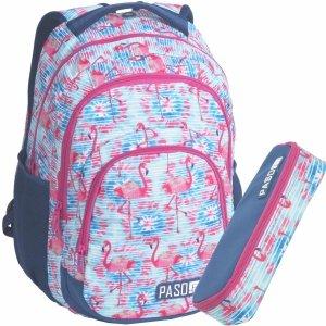 Pojemny Plecak Młodzieżowy Szkolny Flamingi [18-2706FLA]