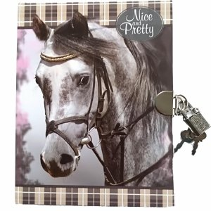 Konie Pamiętynik z Kłódką Dziewczęcy z Koniem [605425]