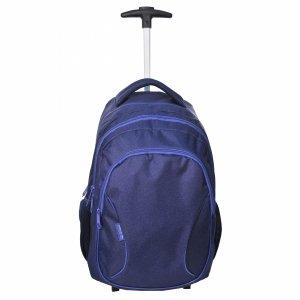 Plecak na Kółkach Szkolny Młodzieżowy Granatowy [81-997K]