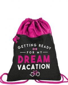 Modny Worek jak Plecak na Obuwie dla Dziewczyny Disney Barbie [BAE-713]