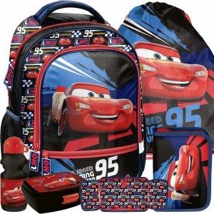 Chłopięcy Plecak do Szkoły Zygzak Auta Cars Auto Komplet 5w1 [DSD-260]