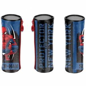Spiderman Tuba Okrągły Szkolny Piórnik Paso dla Chłopaków [SPY-003]