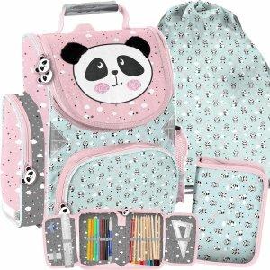 Zestaw Szkolny Tornister dla Dziewczynek Miś Panda [PP21PD-525]