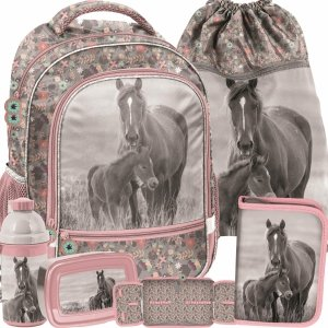 Szkolny Plecak dla Dziewczynki Koń Konie Zestaw [PP20KO-260]