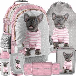 Buldog Plecak Pies Zestaw 5w1 do Szkoły Podstawowej [PTP-116]