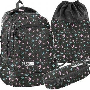 Plecak Młodzieżowy Szkolny Ptaszki Jaskółki [PPJS19-2808]