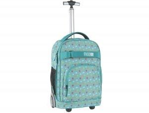 Plecak na Kółkach Młodzieżowy Kolorowe Kropeczki 17-1230UB