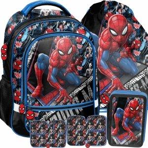 Szkolny Plecak Chłopięcy Spiderman Komplet Paso [SPW-260]