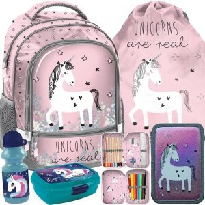Wspaniały Plecak Jednorożec dla Dziewczyny Szkolny Różowy [PP19UN-260]