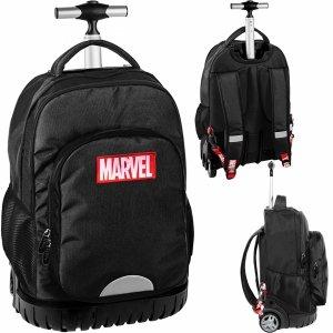 Marvel Czarny Plecak na Kółkach Duży Młodzieżowy Szkolny [AMAR-1231]