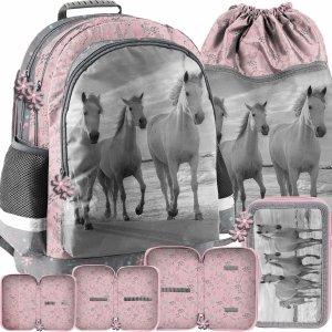 Konie w Galopie Plecak dla Dziewczyn Szkolny Komplet [PP21HO-116]