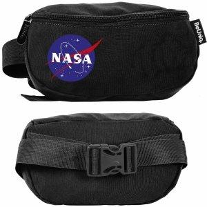 Czarna Nerka Nasa Saszetka na Pas BeUniq Torba Biodrówka [NASA21-510]
