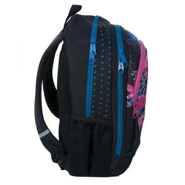 Plecak Szkolny Młodzieżowy Sportowy Kwiaty