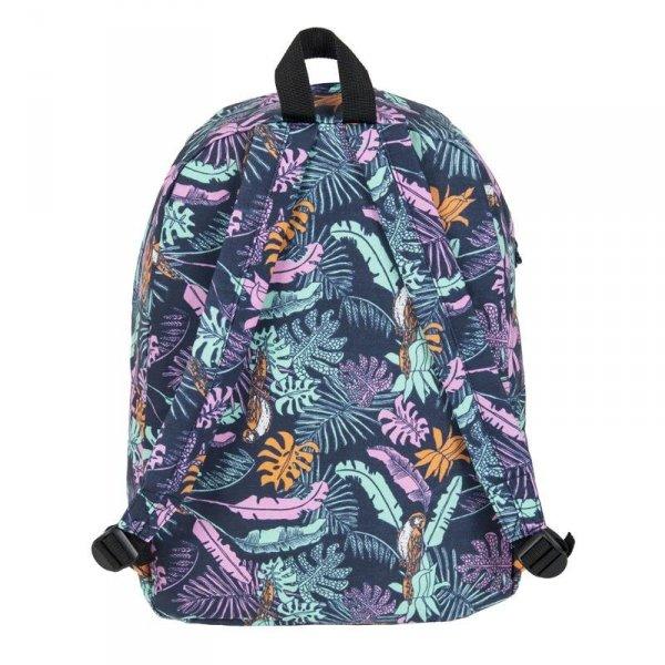 Plecak Vintage Młodzieżowy w Kolorowe Listki dla Dziewczyny