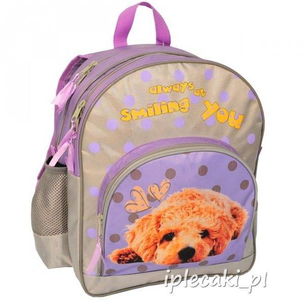 Plecak szkolny piórnik z wyposażeniem worek na Obuwie z pieskiem 13-157D