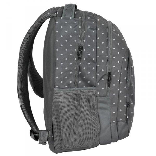 Plecak Młodzieżowy Szkolny Szary Kropki [18-2706ST]