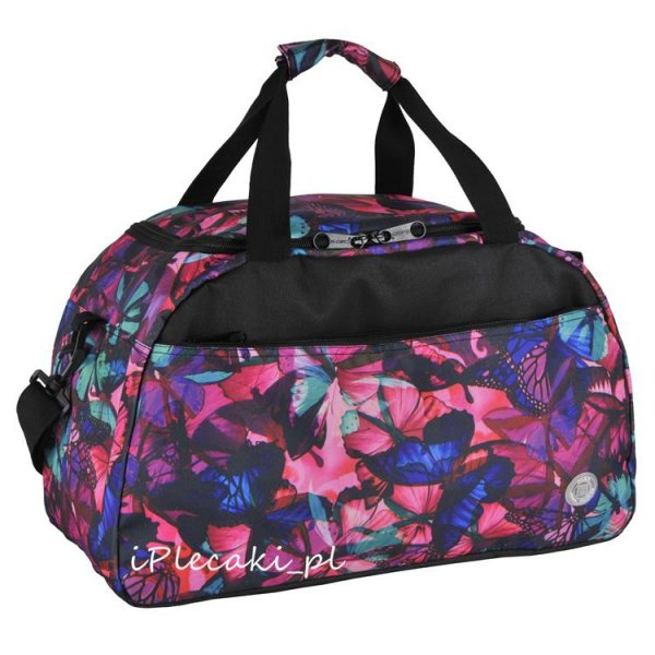 torba podróżna w motyle damska 16-018G
