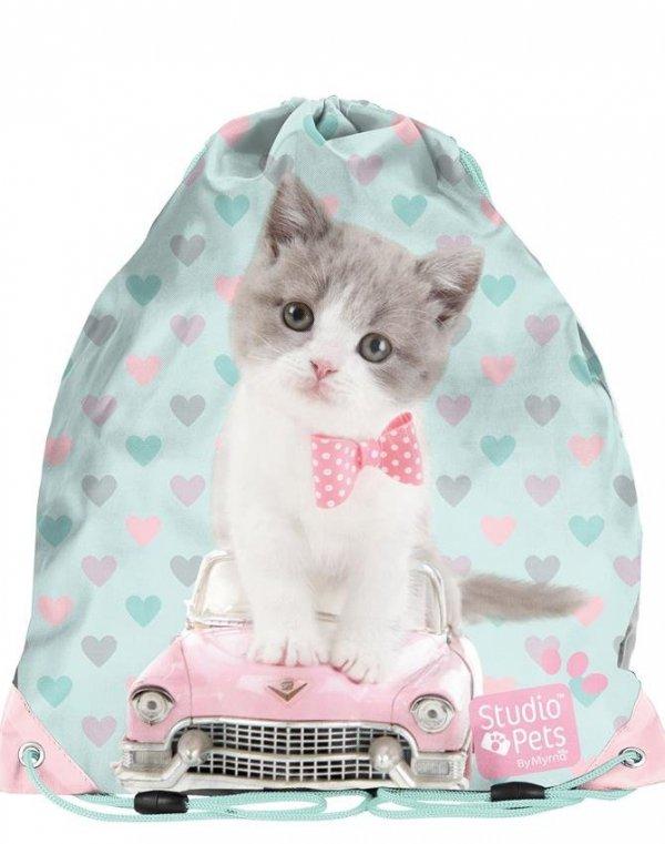 Worek z Kotem Kot na Obuwie Gimnastykę Buty [PET-712]