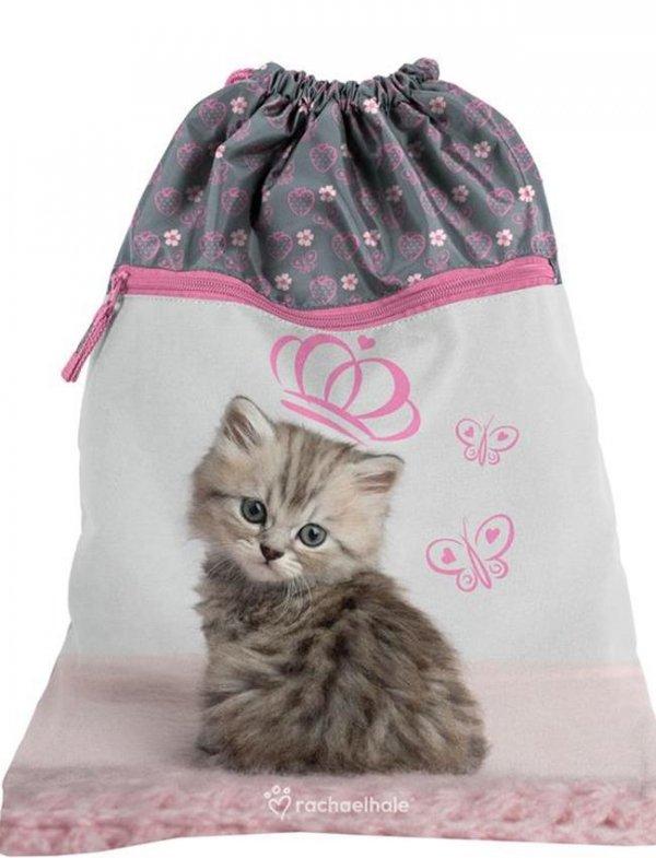 Plecak dla Dziewczynki z Kotem Kot Szkolny Zestaw [RHV-090]