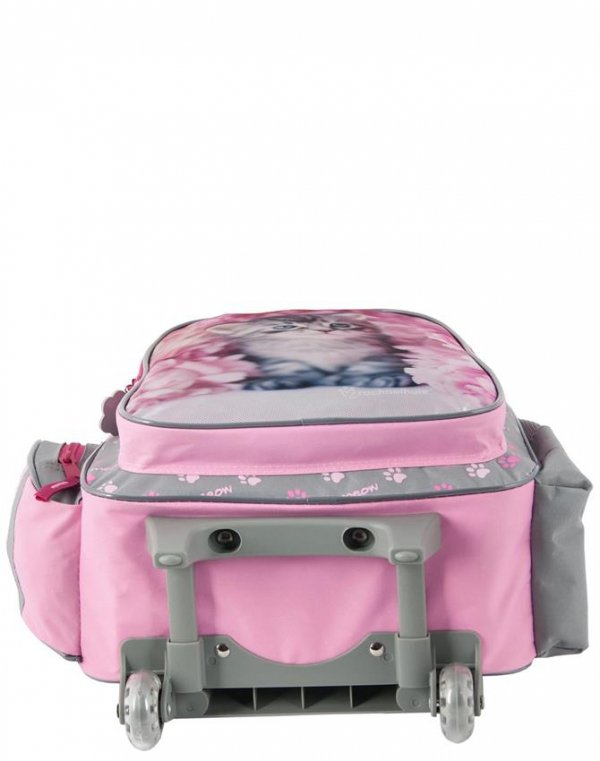 Plecak na Kółkach Kotek Kot Szkolny Zestaw dla Dziewczyny [RAM-1220]