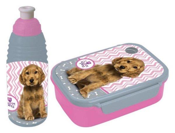 Śniadaniówka Bidon Pies Piesek z Pieskiem Pojemnik na Śniadanie dla dziewczyny