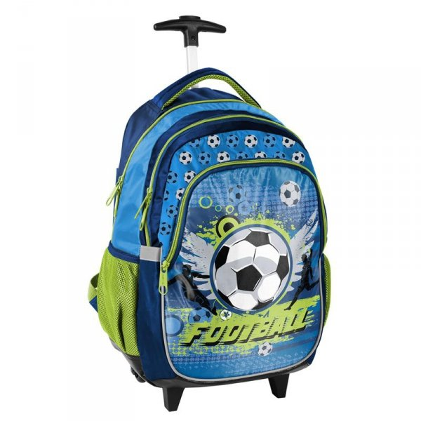 Plecak na Kółkach z Piłką Szkolny dla Chłopaka Paso 17-997X