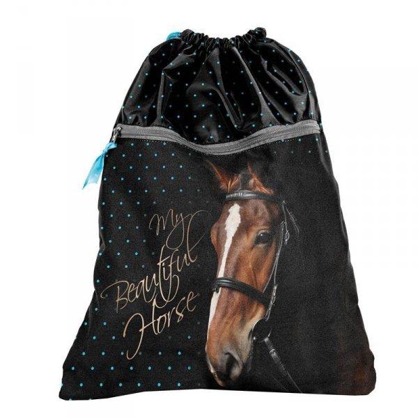 Worek z Koniem Konie na Gimnastykę Obuwie Buty dla Dziewczyny17-713KO