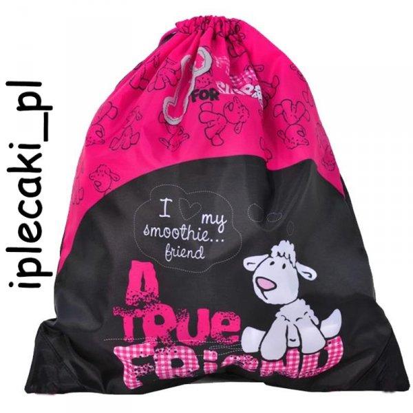 Plecak szkolny piórnik z wyposażeniem worek gimnastyczny z owieczką 14-157SH